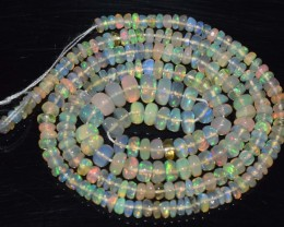 31.00 Ct Natural Ethiopian Welo Opal Beads Play Of Color