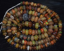 42.40 Ct Natural Ethiopian Welo Opal Beads Play Of Color