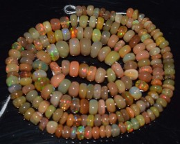 41.60 Ct Natural Ethiopian Welo Opal Beads Play Of Color