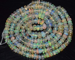 29.65 Ct Natural Ethiopian Welo Opal Beads Play Of Color