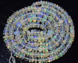 29.05 Ct Natural Ethiopian Welo Opal Beads Play Of Color