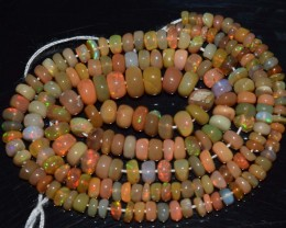 38.80 Ct Natural Ethiopian Welo Opal Beads Play Of Color