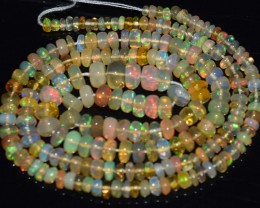 33.55 Ct Natural Ethiopian Welo Opal Beads Play Of Color