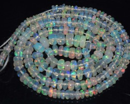 32.60 Ct Natural Ethiopian Welo Opal Beads Play Of Color