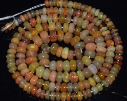 41.55 Ct Natural Ethiopian Welo Opal Beads Play Of Color