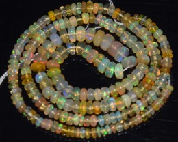35.05 Ct Natural Ethiopian Welo Opal Beads Play Of Color