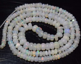 34.50 Ct Natural Ethiopian Welo Opal Beads Play Of Color