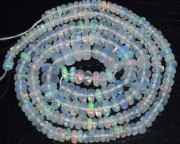 32.40 Ct Natural Ethiopian Welo Opal Beads Play Of Color