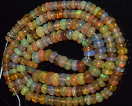 43.05 Ct Natural Ethiopian Welo Opal Beads Play Of Color