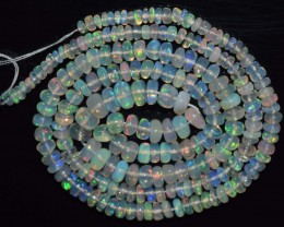 32.50 Ct Natural Ethiopian Welo Opal Beads Play Of Color