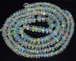 31.40 Ct Natural Ethiopian Welo Opal Beads Play Of Color