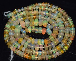 33.20 Ct Natural Ethiopian Welo Opal Beads Play Of Color