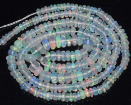 30.10 Ct Natural Ethiopian Welo Opal Beads Play Of Color
