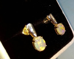 Opal earrings 14K Solid Opal