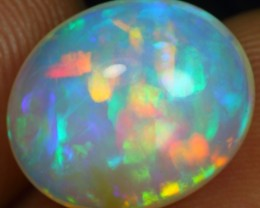 6.60cts BLUE AND RAINBOW FIRE Natural Ethiopian Welo Opal
