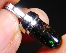 Beautiful Pendant Indonesian Wood Fossil Opal Polished 11.65 Ct