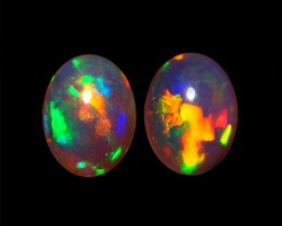 8x6 MM AAA QUALITY ETHIOPIAN CRYSTAL OPAL PAIR -AB244