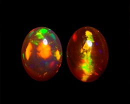 8x6 MM AAA QUALITY ETHIOPIAN CRYSTAL OPAL PAIR -AB245