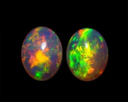 8x6 MM AAA QUALITY ETHIOPIAN CRYSTAL OPAL PAIR -AB246