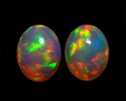 9x7 MM AAA QUALITY ETHIOPIAN CRYSTAL OPAL PAIR -AB254