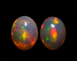 9x7 MM AAA QUALITY ETHIOPIAN CRYSTAL OPAL PAIR -AB255