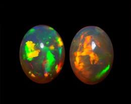 9x7 MM AAA QUALITY ETHIOPIAN CRYSTAL OPAL PAIR -AB256