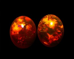 5.67CT 11X9MM AAA QUALITY ETHIOPIAN CRYSTAL OPAL PAIR -AB258