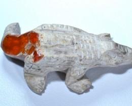 No Reserve Fire Opal Croc in Matrix