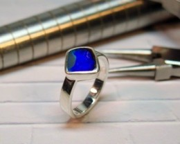 Australian Opal Freeform Hand Made 925 Silver Ring