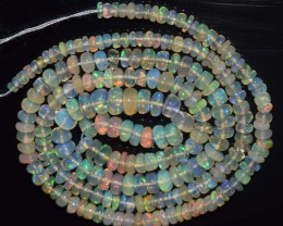 30.60 Ct Natural Ethiopian Welo Opal Beads Play Of Color