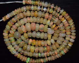 34.10 Ct Natural Ethiopian Welo Opal Beads Play Of Color
