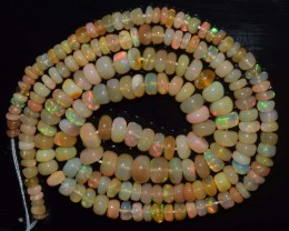 37.75 Ct Natural Ethiopian Welo Opal Beads Play Of Color