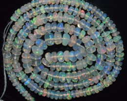 28.30 Ct Natural Ethiopian Welo Opal Beads Play Of Color