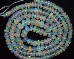 30.50 Ct Natural Ethiopian Welo Opal Beads Play Of Color