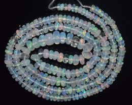 28.60 Ct Natural Ethiopian Welo Opal Beads Play Of Color