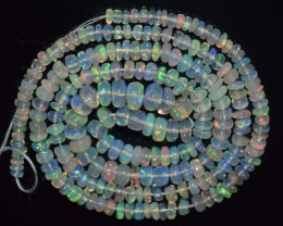 29.90 Ct Natural Ethiopian Welo Opal Beads Play Of Color