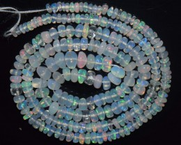 28.70 Ct Natural Ethiopian Welo Opal Beads Play Of Color