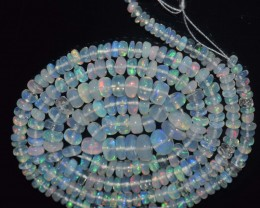 28.55 Ct Natural Ethiopian Welo Opal Beads Play Of Color