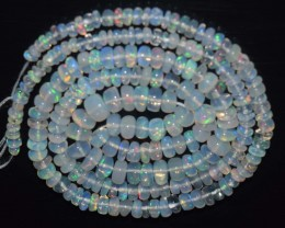 30.40 Ct Natural Ethiopian Welo Opal Beads Play Of Color