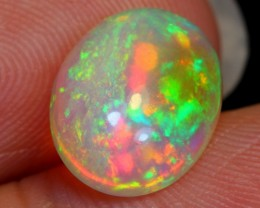 NR Auction~ 1.69ct Greenish Pink Flash Ethiopian Welo Polished Opal