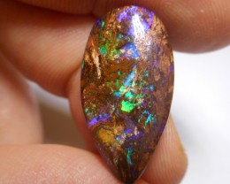 12.25ct Electric Opalised Wood Fossil Boulder Polished Stone