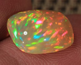 3.38CT~BRILLIANT 5/5 WELO OPAL CAB~RAINBOW PEACOCK PATTERN!