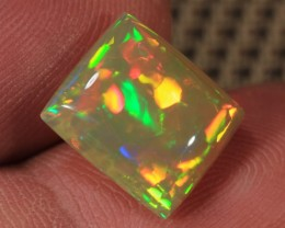 4.10CT~BRILLIANT 5/5 DARK BASE WELO OPAL CAB~PUZZLE PATTERN!