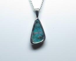 Australian Opal Freeform Hand Made 925 Silver Pendant