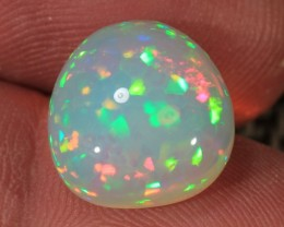 6.42CT~BRILLIANT 5/5 WELO OPAL CAB~CONFETTI/HONEYCOMB PATTERN