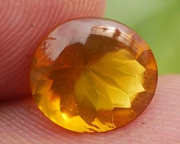 2.00 CRT BEAUTY FACETED VERY CLEAR HONEYGOLD INDONESIAN FIRE OPAL
