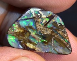 7.90 ct $1 NR Multi Color Opalised Wood Solid Boulder Opal