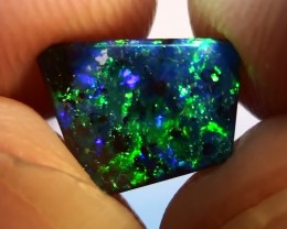 1.20 ct Boulder Opal With Natural Gem Blue Green Color