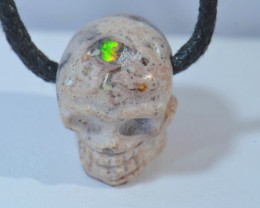15ct Skull Mexican Cantera Fire Opal