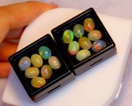 NR~ 18.33ct Oval 9x7mm Welo Opal Parcel Lot